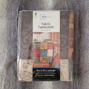 "Fabric Tablecloth NWT 60""×84"""